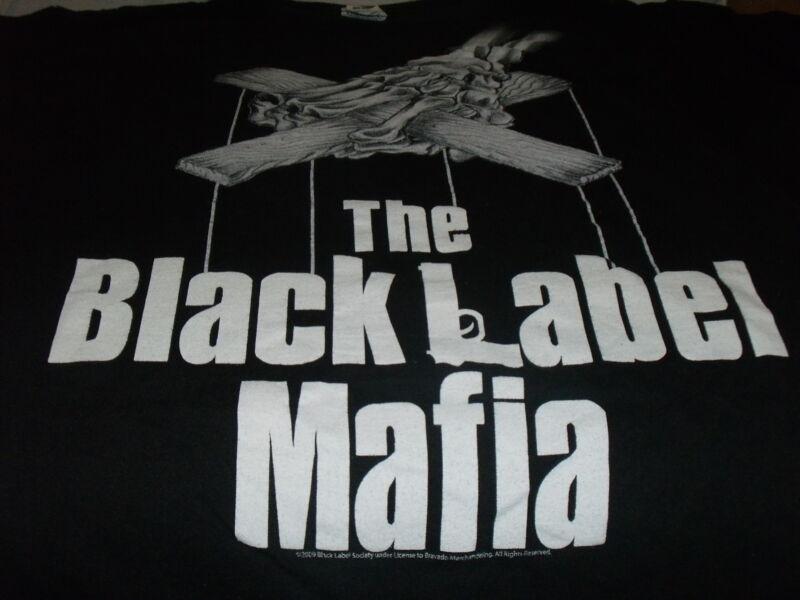 Black Label Mafia Shirt Vtg 2009 Zakk Wylde Size MED Tour Puppet
