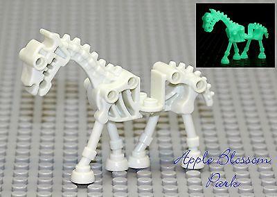 NEW Lego Glow in Dark SKELETON HORSE - White Monster Fighters Halloween Minifig](Halloween Skeleton Horse)