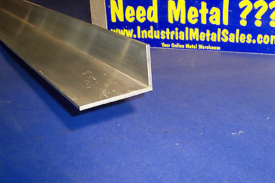 1-12 X 2-12 X 12 Long X 18 Thick 6063 T52 Aluminum Angle1.5 X 2.5