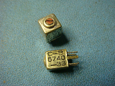 1 Piece Caddell Burns 6740-33 47uh Subminiature Shielded Variable Inductors New