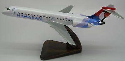 B-717 Hawaiian Air B717 Airplane Desktop Kiln Dry Wood Model Replica Regular New, used for sale  Shipping to Canada