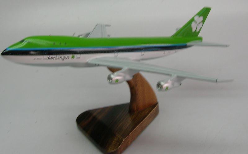 B-747 Aer Lingus Boeing B747 Airplane Desk Wood Model Regular New Free Shipping