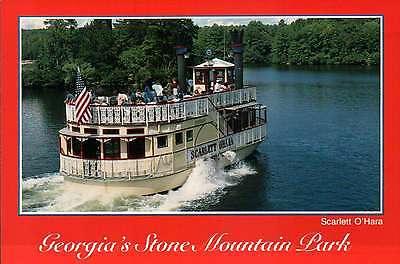 Scarlett O'Hara, Riverboat at Stone Mountain Park, Georgia  --- Ship Postcard