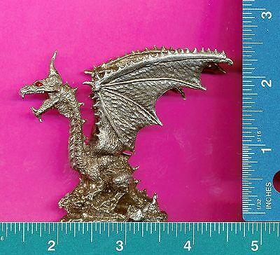 Lead free pewter dragon with red crystal eyes figurine N12008