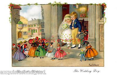 Pauli Ebner~The Doll's Wedding~ NEW Large Note Cards