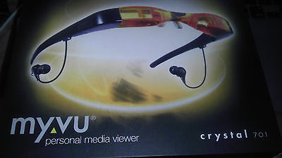 TFT Monitor Video Glasses LCD COMPOSITE MYVU Crystal 701 MINT Perfect 640x480 (Monitor Glasses)