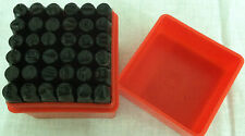 "36pc Number and Letter Punch Set 1/4"" Hardened Steel Metal Die Jewelers w/Case"
