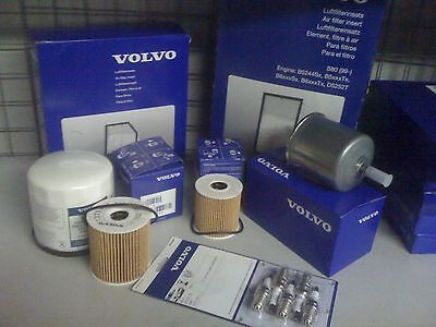 Volvo Service Kit Petrol Oil Air Fuel Filter And Plugs Turbo S60/V70/S80/XC90