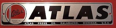 New Atlas Craftsman Sears Name Plate Label 1 316 H 5 34 Long