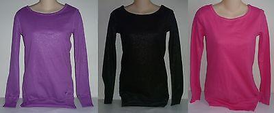 Crew Long Sleeve Tunic (Womens AEROPOSTALE Long Sleeve Shimmer Crew Tunic Tee Shirt NWT)