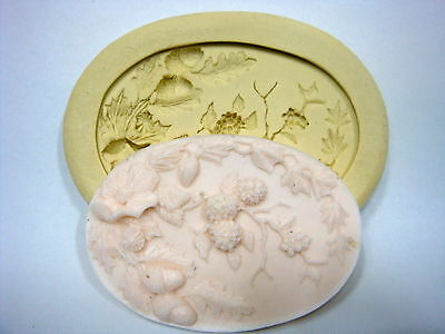 Silicone Mold fondant Mould for Sugarcraft,Cake, Clay -Flower EMBLEM #1 <Large>