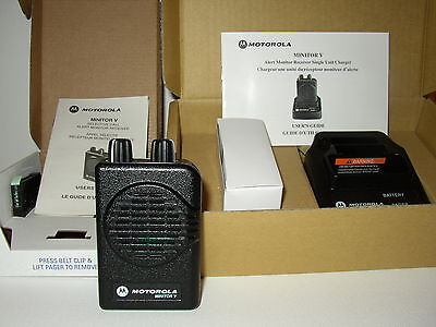 New Motorola Minitor V 5 Low Band Pager 45-49 Mhz 2-channel Non-stored Voice
