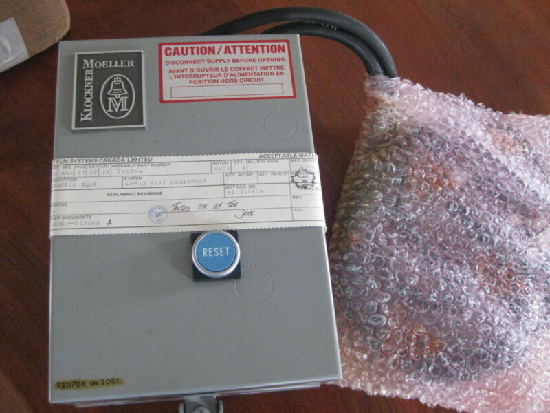 Klockner Moeller Motor Starter box w/ reset Contactor Relay p/n T20704  New