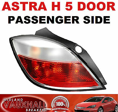 VAUXHALL ASTRA H MK5 SMOKED REAR BACK LIGHT LENS PASSENGER NEAR SIDE SXI SRI VXR
