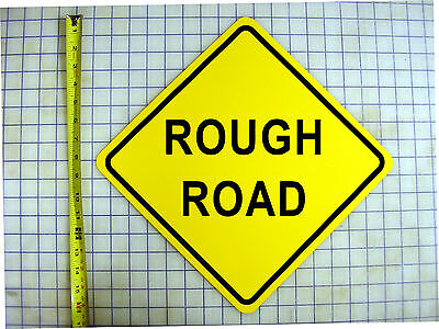 ROUGH ROAD AHEAD YELLOW ALUMINUM SIGN Ahead Yellow Sign