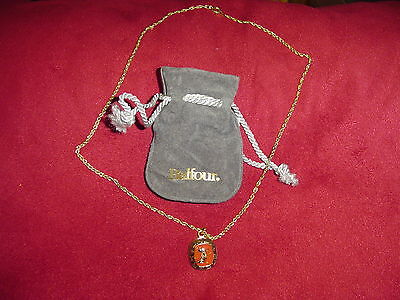 Arizona Wildcats BALFOUR Ring Top Pendant Necklace With Gift Bag! New! Arizona Wildcats Wildcat Ring