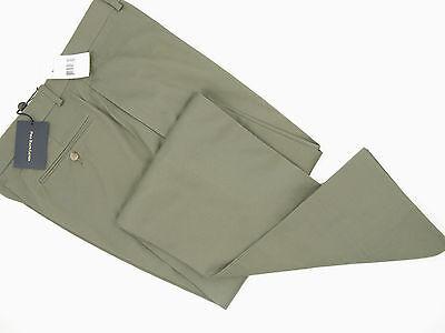 NEW $225 Polo Ralph Lauren Tailored Dress Chino Type Flat Front Pants!  34 Olive - Tailored Dress Chino