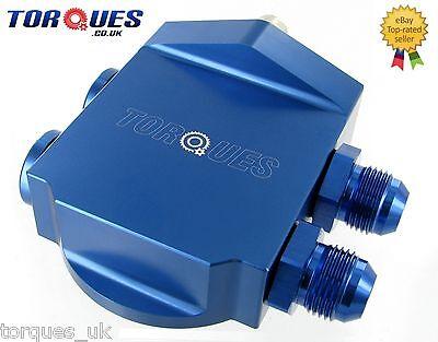 Torques Remote Billet Aluminium Oil Filter Housing- Blue (AN-10 JIC-10) 3/4 UNF