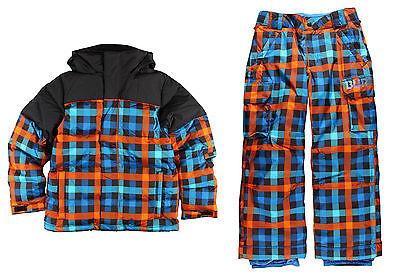Burton Boys Ski Snowsuit Set Indie Down Jacket & Exile Cargo Pant Size 18, - Burton Boys Down Jacket