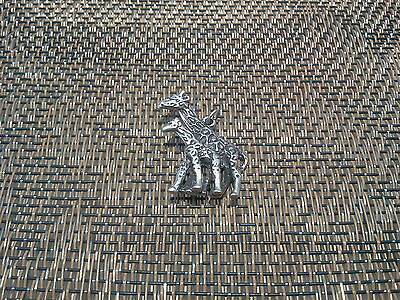 AFRICAN ZOO ANIMAL 1 GIRAFFE with BABY 3D PEWTER CHARM ALL NEW