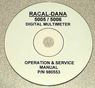 Racal-dana 5005 5006 Dmm Manual Operating Service