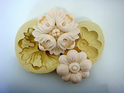 Flower Molding #5, Silicone Mold Chocolate Polymer Clay Jewelry Soap Melting Wax