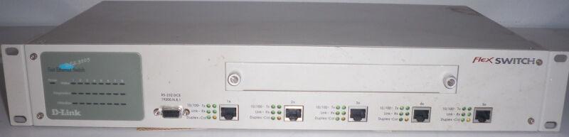 D-LInk Flex Switch Fast Ethernet Switch Des-3205 Ver: A1