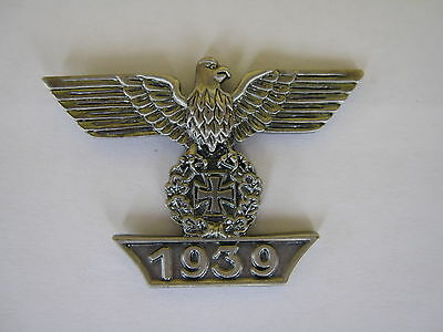 WH Reichsadler Wiederholungsspange Eisernes Kreuz 1939 EK Pin Wehrmacht WW2 WK2