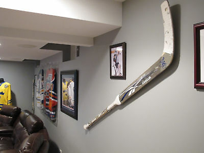Goalie Hockey Stick Display / Wall Mount / Hanger for game-used goalie sticks