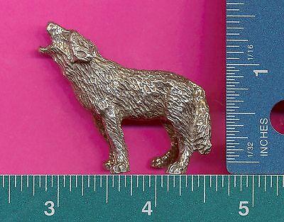 4 wholesale lead free pewter wolf figurines F6050