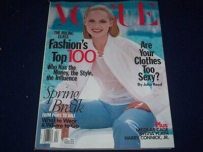 1998 April Vogue Magazine   Amber Valletta   Fashion Super Models   F 744