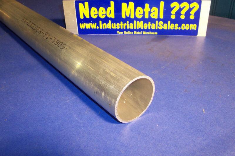 """2-1/2"""" OD x 2"""" ID x 12"""" x 1/4"""" Wall 6061 Aluminum Round Tube-->2.5""""OD x .250"""