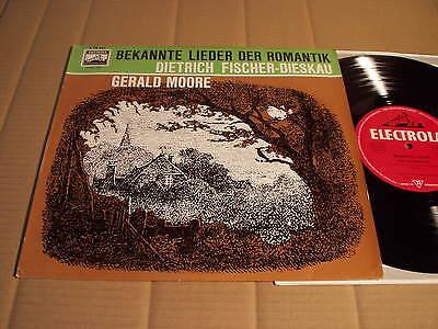 """FISCHER-DIESKAU / MOORE - BEKANNTE LIEDER DER ROMANTIK - SCHUBERT  - 10""""-LP"""