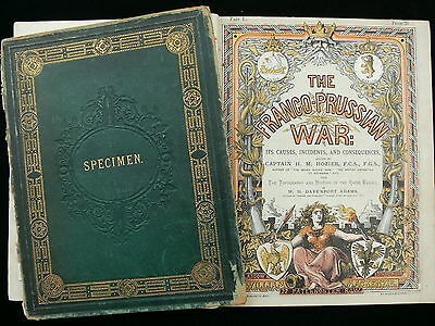 """The Franco-Prussian War"" H.M. Hozier - ""Specimen"" Publishers Sample c.1873"