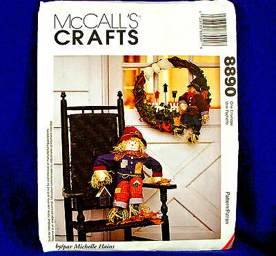 McCall's Crafts 8890 Harvest Scarecrow & Wreath Pattern (Scarecrow Crafts)