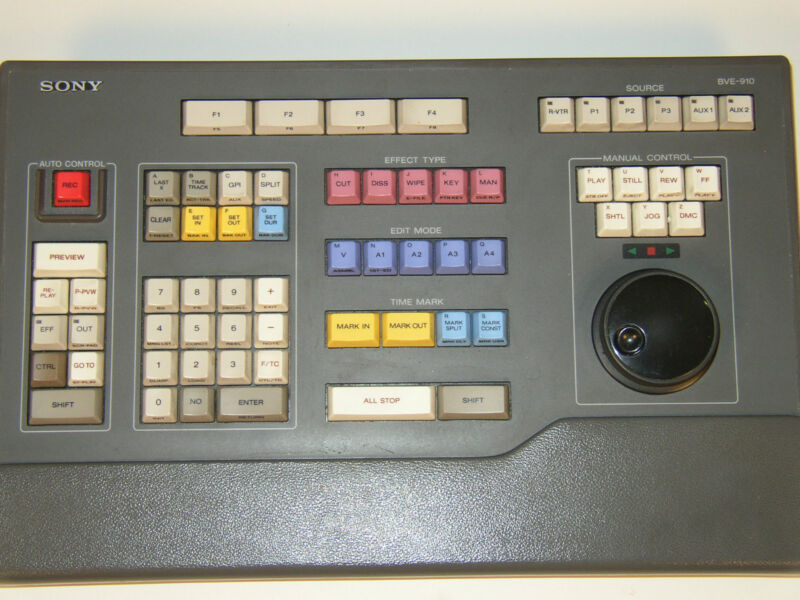 Sony BE-910 editor with keyboard