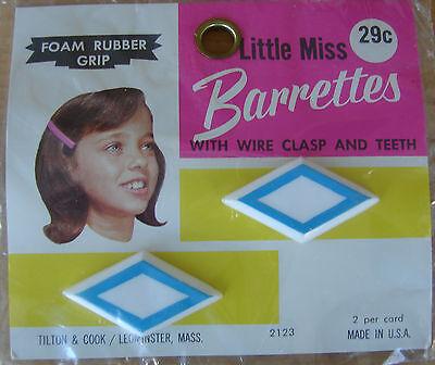 Vintage Haarspangen - Blau und Weiß Rautenform Haarspange 2 pro Karte ()