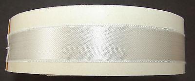 Vintage Satin Trim -  18 Yards White Swiss Satin Ribbon original roll. Code 870.