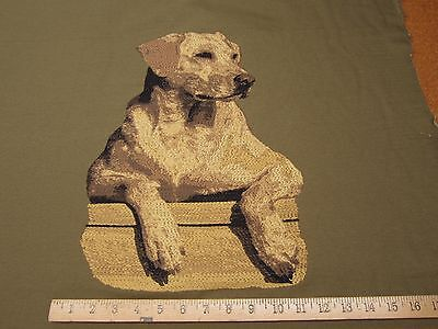Labrador Retriever Dog Tapestry Fabric Pillow and Craft Panel ft975 ()