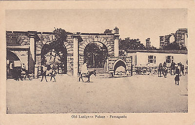 CYPRUS POSTCARD BY STA OLD LUSIGNAN PALACE FAMAGUSTA RARE!