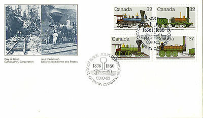 CANADA 1983 STEAM LOCOMOTIVES UNADDRESSED FIRST DAY COVER OTTAWA SHS