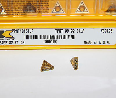 TPMT 3252MF 32.52 KCP25 KENNAMETAL *** 10 INSERTS *** FACTORY PACK ***