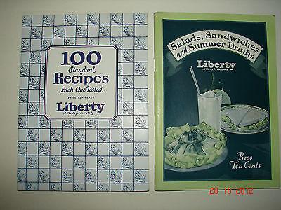 2 LIBERTY Magazine Cookbooks - 100 Recipes & Salads, Sandwiches & Summer Drinks - Summer Drinks Recipe