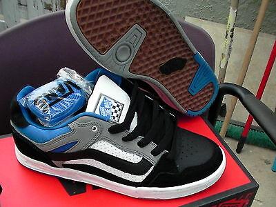 Vans Skateboard Schuhe Desurgent Schwarz/Grau/Blau Größe 9.5 Neu mit Karton (Grau Schwarze Vans Schuhe)