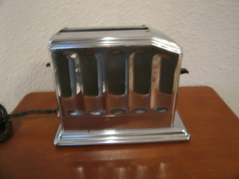 Vintage Antique Walters Genter Toastmaster Chrome Toaster