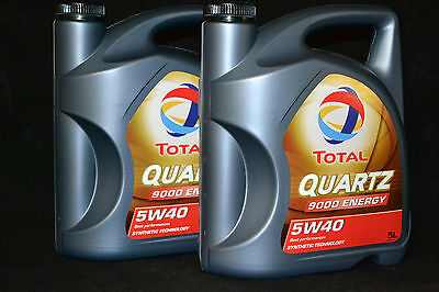 2x5 Liter TOTAL Quartz 9000 ENERGY 5W-40 Motoröl 5W40 VW MERCEDES BMW PORSCHE
