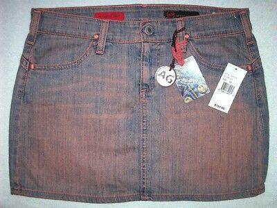 New | AG Adriano Goldschmied The Legend | Stretch Jean Mini Skirt Size 28 $125