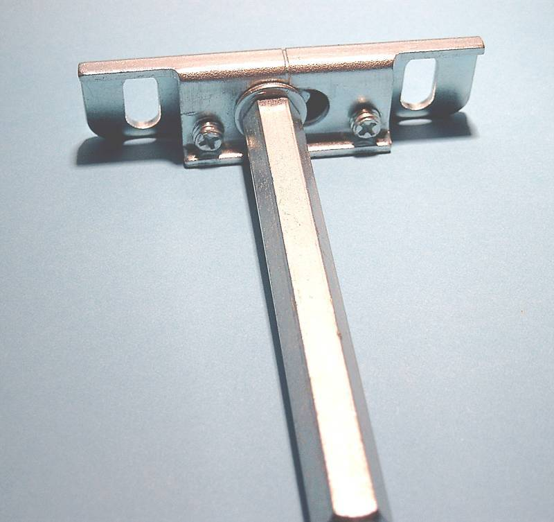 4 Tablarträger/Bodenträger regulierbar,Stahl, unsichtbare Befestigung