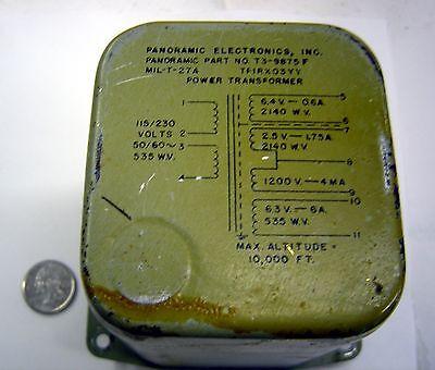 Panoramic Electronics Inc T3-9875-f Power Transformer Tfirx03yy Lot Of 1