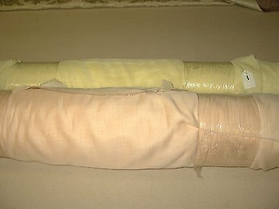 "2 rolls drapery fabric 118"" sheers French import home decor, wedding NOS"